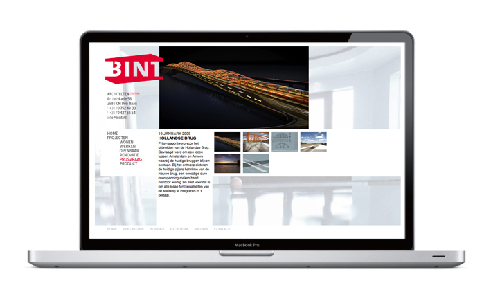 Bint Architecten - Website